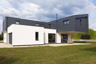 Maison aérienne contemporaine, Doubs (2016-2017)