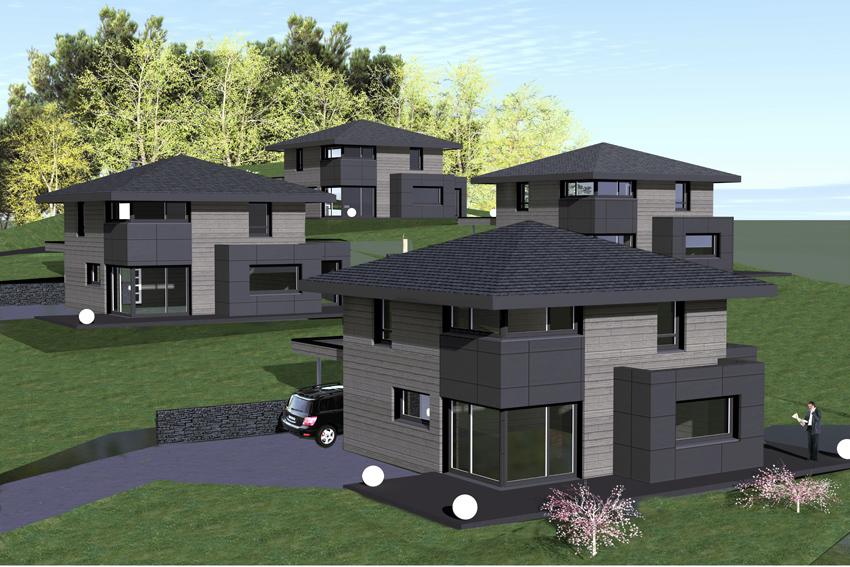myotte duquet architecture bois actualit s lancement du programme de 4 maisons bois au. Black Bedroom Furniture Sets. Home Design Ideas