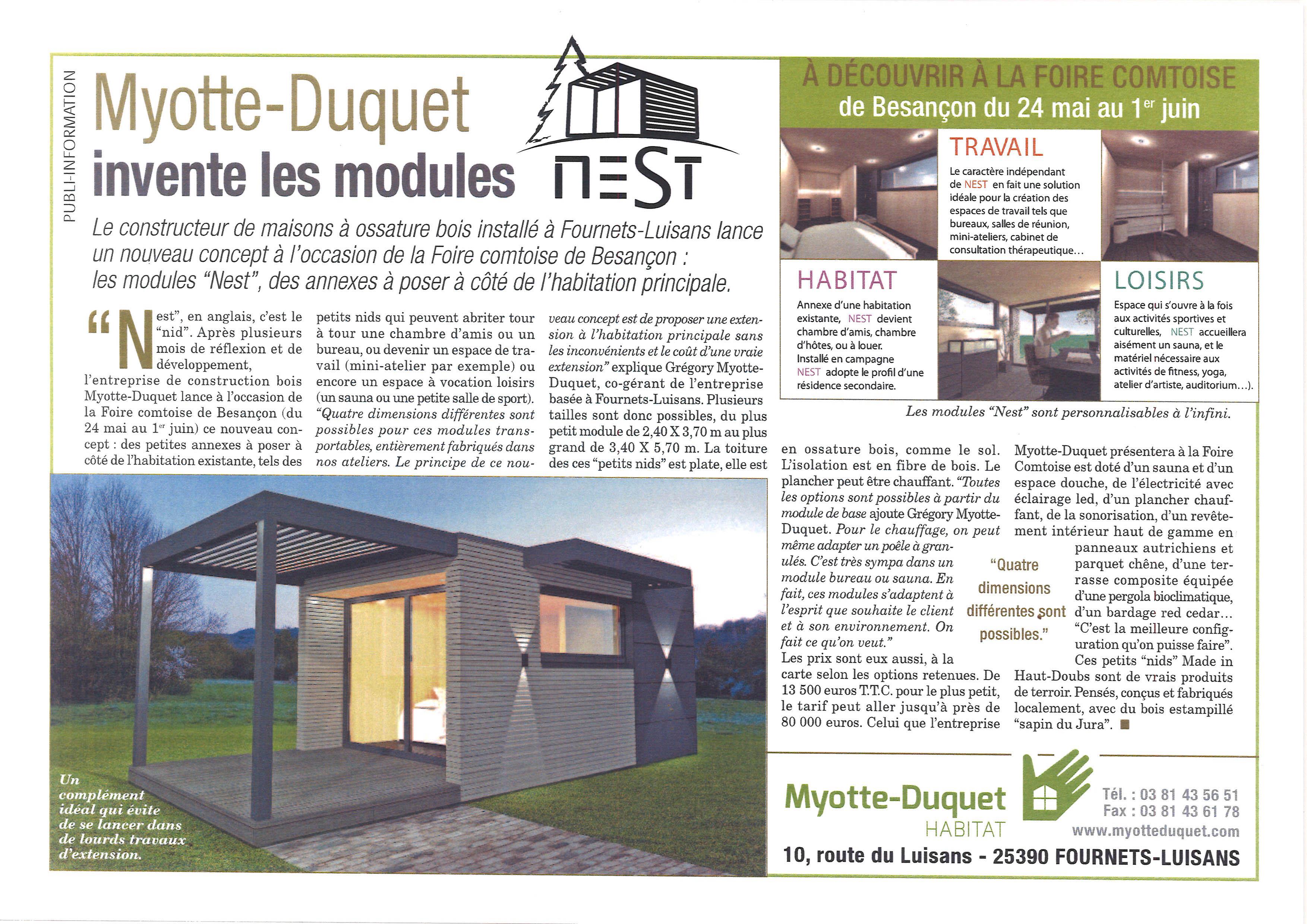 myotte duquet architecture bois module nest. Black Bedroom Furniture Sets. Home Design Ideas