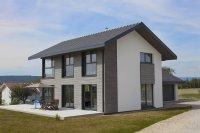 Maison bois et crépis, Lully (Haute-Savoie)