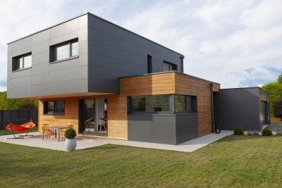 Maison contemporaine en toit plat, Doubs (2016)