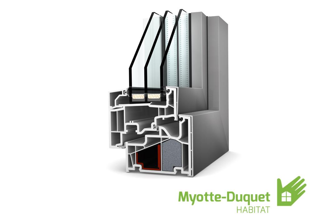 Myotte duquet architecture bois internorm for Fenetre pvc aluminium